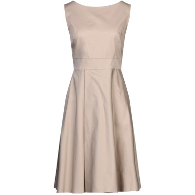 SANDRO FERRONE ミニワンピース&ドレス ベージュ 42 コットン 97% / ポリウレタン 3% ミニワンピース&ドレス