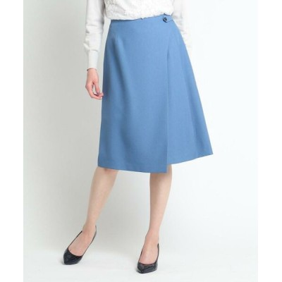 SunaUna/スーナウーナ ◆アシンメトリーラップスカート ブルー(092) 38(M)