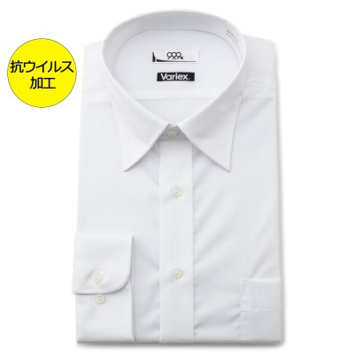 【アウトレット】【WEB限定商品】抗ウイルス加工 形態安定 レギュラーカラーシャツ