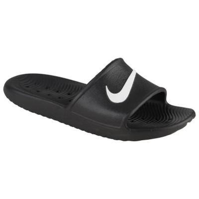 即納 ナイキ レディース Nike Kawa Shower Slide サンダル スリッパ Black/White