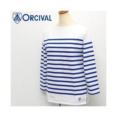 Orcival 【オーチバル】ラッセルフレンチセーラー ボートネックTシャツ Lady's 【6803 14stripe】