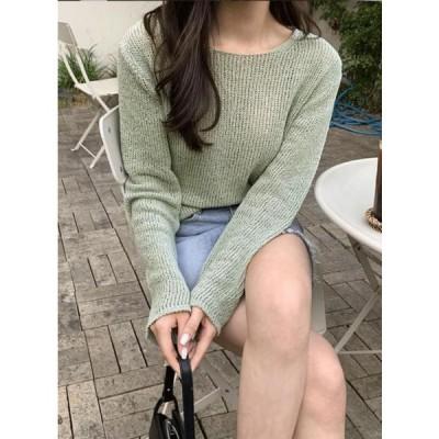 UPTOWN HOLIC レディース ニット/セーター Crem cotton knit