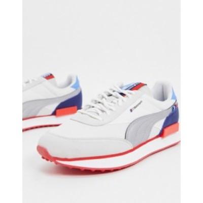 プーマ メンズ スニーカー シューズ Puma Future Rider sneakers in white and red Puma white-puma silv
