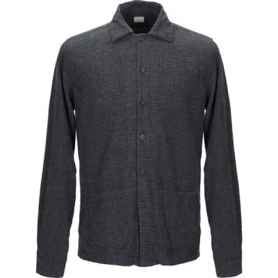 ザカス XACUS メンズ シャツ トップス patterned shirt Steel grey