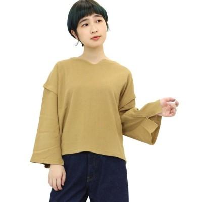 tシャツ Tシャツ M0850 マメかのこワイドスリーブプルオーバー