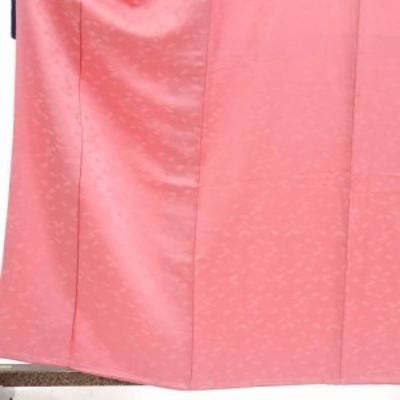 【中古】リサイクル着物 色無地 / 正絹ピンク地袷色無地 / レディース【裄Mサイズ】(古着 リサイクル品 色無地 )