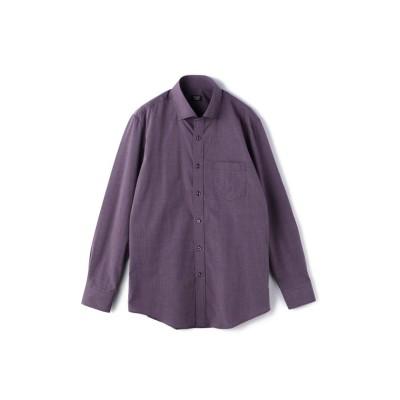 【メンズビギ】 ピンヘッドレギュラーカラーシャツ メンズ パープル M Men's Bigi