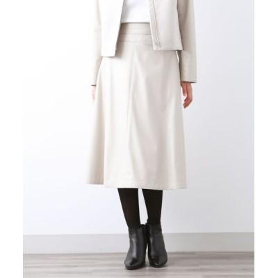 AMACA/アマカ スマートレザー スカート ベージュ1 42
