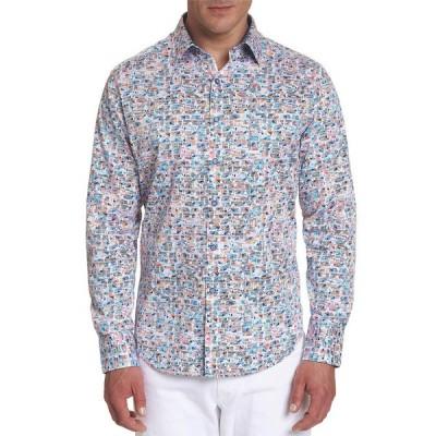 ロバートグラハム メンズ シャツ トップス Men's Limitless Geometric-Print Sport Shirt