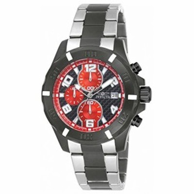 Invicta Specialtyクロノグラフブラックと赤CarnonファイバーダイヤルツートンカラーMens Watch 18050