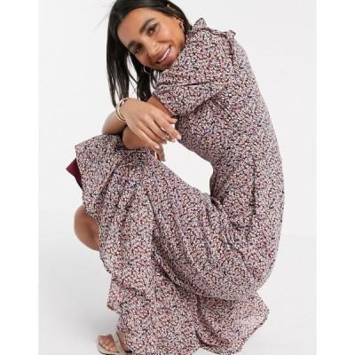 ヤス ミディドレス レディース Y.A.S midi dress with high neck in ditsy floral エイソス ASOS sale