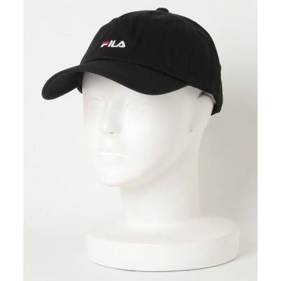 帽子 キャップ 【FILA/フィラ】スモールロゴローキャップ ワンポイント刺繍
