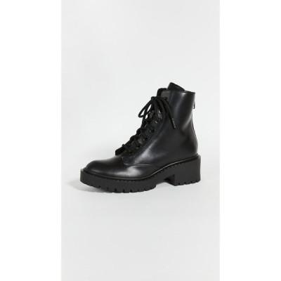 ケンゾー KENZO レディース ブーツ シアリング レースアップブーツ シューズ・靴 Pike Lace Up Shearling Boots Black