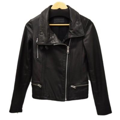 ALL SAINTS レザージャケット BALES ブラック サイズ:UK8(M) (恵比寿店) 210323