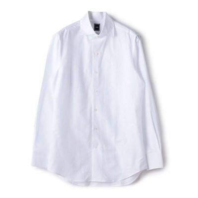 シャツ ブラウス SD: コットン リネン ソリッド ワンピースカラー シャツ(ホワイト)