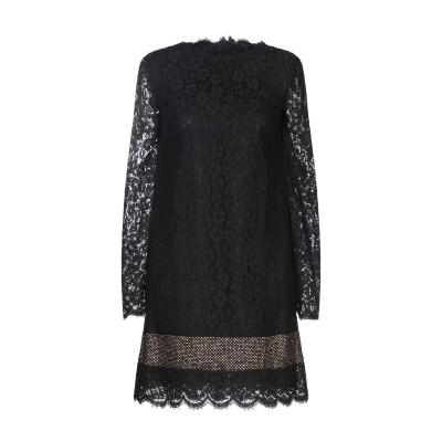 ドルチェ & ガッバーナ DOLCE & GABBANA ミニワンピース&ドレス ブラック 36 コットン 53% / ナイロン 37% / レーヨ