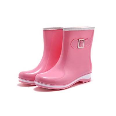 SaphiRose レインシューズ レディース 防水 無地 ショート丈 レインブーツ 雨靴 滑り止め 通勤 通学 梅雨対策