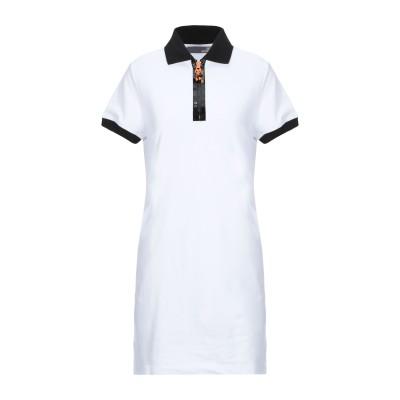 ラブ モスキーノ LOVE MOSCHINO ミニワンピース&ドレス ホワイト 38 コットン 95% / ポリウレタン 5% ミニワンピース&ドレス