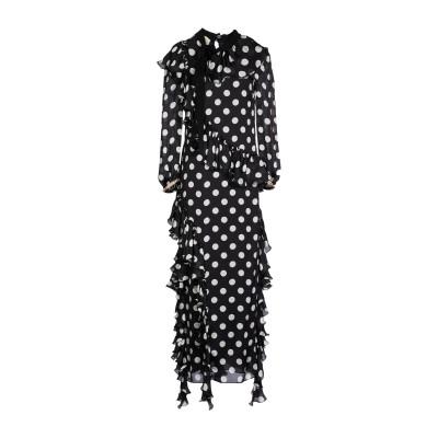 グッチ GUCCI ロングワンピース&ドレス ブラック 36 シルク 100% ロングワンピース&ドレス