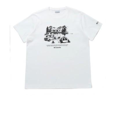 コロンビア(Columbia)半袖Tシャツ  ヤハラフォレスト ショートスリーブ Tシャツ PM0176 101 白 ホワイト おしゃれ