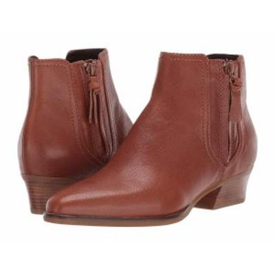 コールハーン レディース ブーツ・レインブーツ シューズ Hadlyn Bootie CH British Tan Leather/Antique Nylon Zip/Dark Natural Raw St