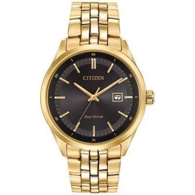シチズン メンズ 腕時計 アクセサリー Men's Eco-Drive Gold-Tone Stainless Steel Bracelet Watch 41mm BM7252-51E