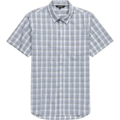 ストイック メンズ シャツ トップス Plaid Short-Sleeve Button-Down Shirt