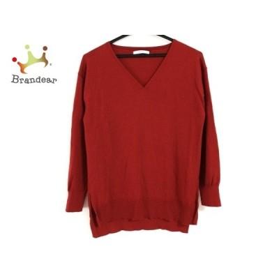 アナイ ANAYI 長袖セーター サイズ38 M レディース レッド   スペシャル特価 20210107