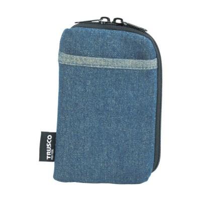 TRUSCO デニムスマホケース 2ポケット ブルー