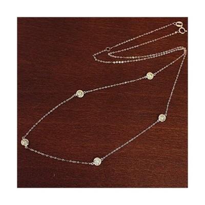 One&Only Jewellery 【鑑別書付】 1ct ダイヤモンド K18 ピンクゴールド ステーション ネックレス ペンダント 4月