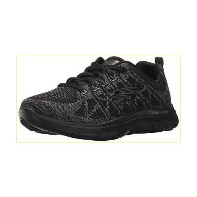 [スケッチャーズ] Womens Sneakers Flex Appeal 2.0 New Gem Knitted Shoes-Black-28