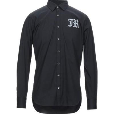 ジョン リッチモンド JOHN RICHMOND メンズ シャツ トップス solid color shirt Black