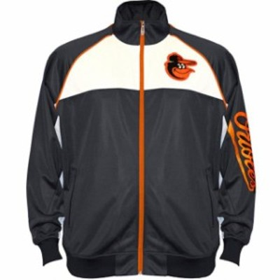 Majestic マジェスティック スポーツ用品  Majestic Baltimore Orioles Black Big & Tall Tricot Pieced Raglan Full-Zip