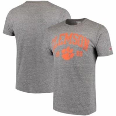 League Collegiate Wear リーグ コレクティブル ウェア スポーツ用品  League Clemson Tigers Gray Victory Falls Tri-Blend T-Shirt