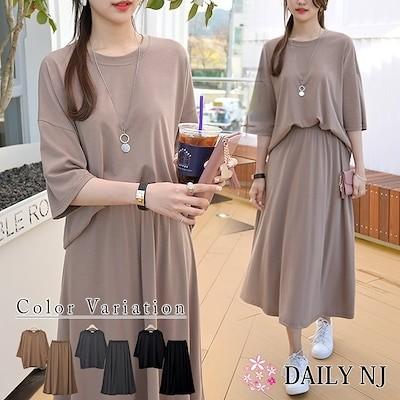 セットアップ Tシャツ スカート アンサンブル 韓国ファッション set16