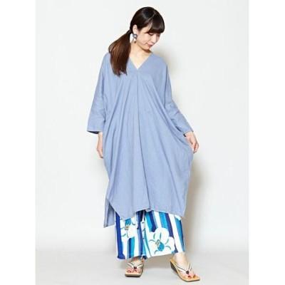 (KAYA/カヤ)【カヤ】綿麻 天衣ワンピース 7CA-0110/レディース ライトブルー
