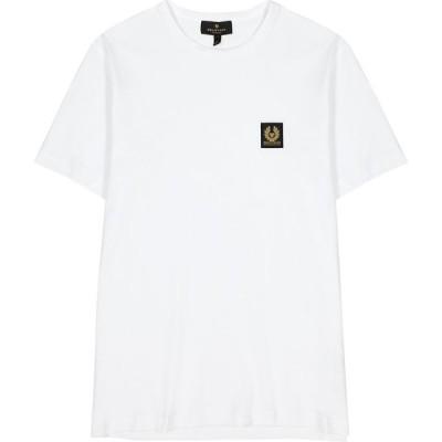 ベルスタッフ Belstaff メンズ Tシャツ トップス White Logo Cotton T-Shirt White