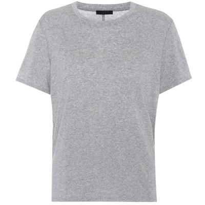 ザ ロウ レディース Tシャツ トップス Wesler cotton T-shirt Grey Melange