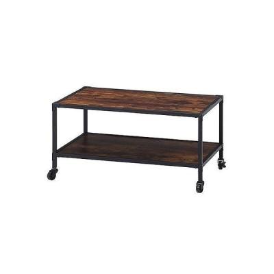 センターテーブル W840×D550×H430mm おしゃれ ブラウン 代引不可