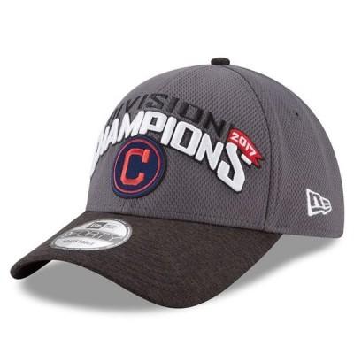 ユニセックス スポーツリーグ メジャーリーグ Cleveland Indians New Era 2017 AL Central Division Champions 9FORTY Adjustable Hat - G