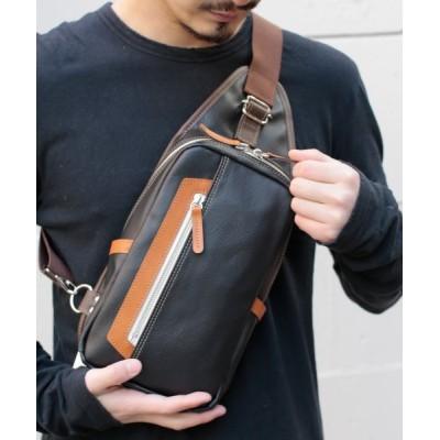 【アンビリオン】 オティアス Otias / PVC(合成皮革)タテ型ボディバッグ ユニセックス ブラック F UNBILLION