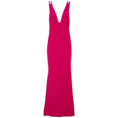 BADGLEY MISCHKA ロングワンピース&ドレス フューシャ 16 ポリエステル 95% / ポリウレタン 5% ロングワンピース&ドレス