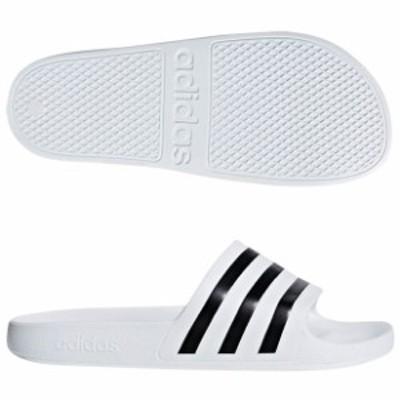 アディレッタ AQUA ランニングホワイト×コアブラック 【adidas|アディダス】サッカーフットサルサンダルf35539