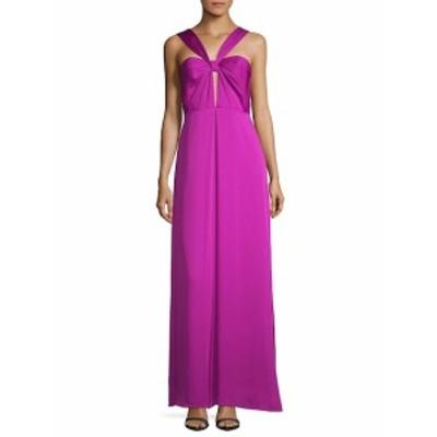ジルジルスチュワート レディース ワンピース Halter Cut-Out Floor-Length Gown