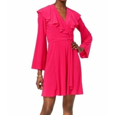 taylor テイラー ファッション ドレス Taylor NEW Pink Fuschia Womens Size 8 Ruffle Surplice Wrap Dress