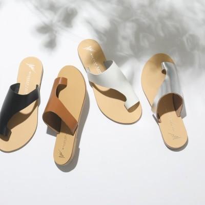 NICOLAS LAINAS ニコラスライナス 26 レザー サンダル フラットサンダル リゾート カラー4色 靴 レディース