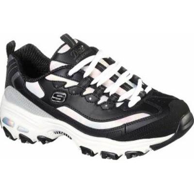 スケッチャーズ レディース スニーカー シューズ Women's Skechers D'lites Cotton Candy Sneaker Black/Gray
