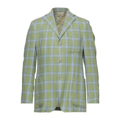 ラルディーニ LARDINI テーラードジャケット ミリタリーグリーン 50 リネン 100% テーラードジャケット