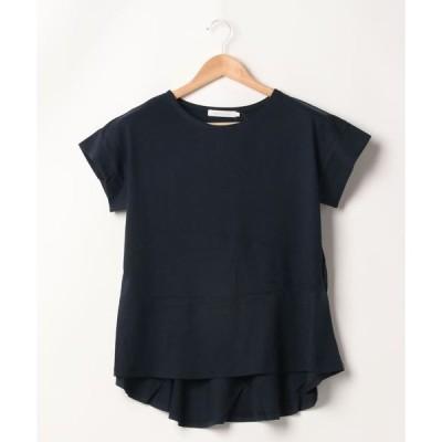 tシャツ Tシャツ 裾イレヘム切り替えカットプルオーバー *