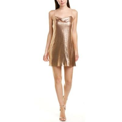 アリス アンド オリビア ワンピース トップス レディース alice + olivia Harmony Chainmail & Silk Slip Dress rose gold
